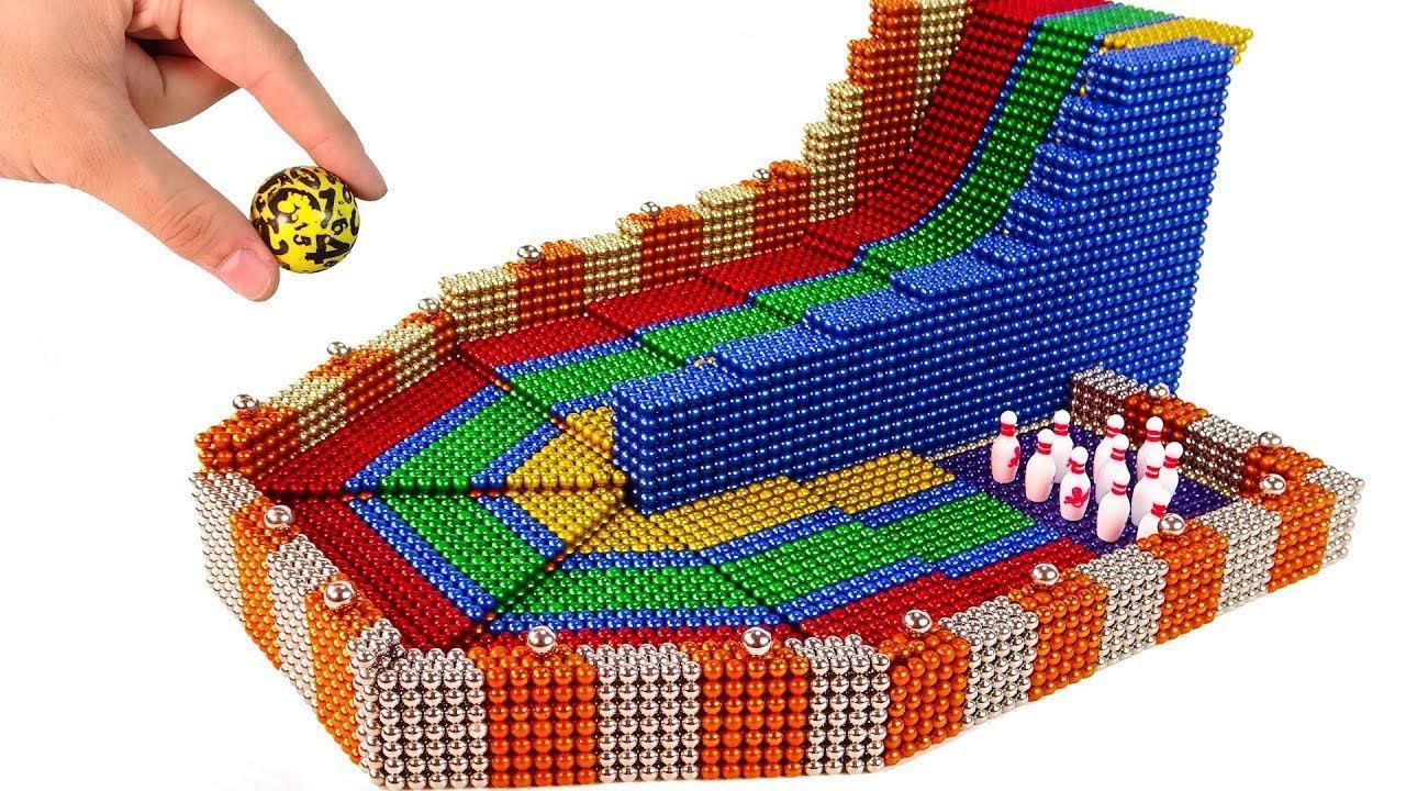 DIY - , كيفية صنع لعبة البولينج من الكرات المغناطيسية 💖  Oddly Magnets
