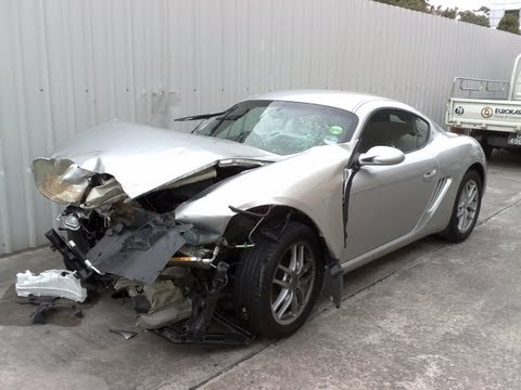 Porsche Cayman totaled *on board video*