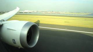 ANA Boeing 787 Dreamliner take off from Tokyo-Haneda in Japan  1/2
