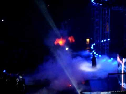 The Undertaker catches on fire at the elimination chamber 2010