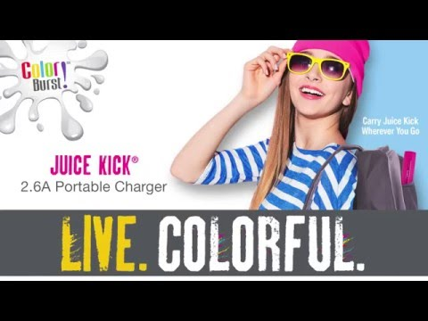 7afd0e38823 Quikcell Color Burst JuiceKick - YouTube