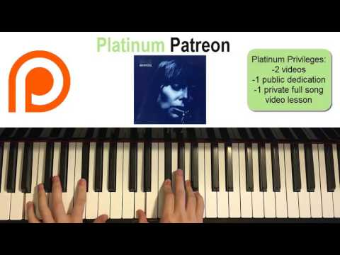 Joni Mitchell - Blue (Piano Cover) | Patreon Dedication #64