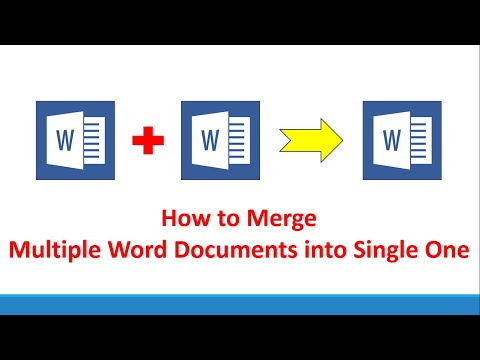HOW TO MERGE MULTIPLE WORD DOCUMENTS INTO SINGLE WORD DOCUMENT !! MICROSOFT WORD TUTORIAL !!
