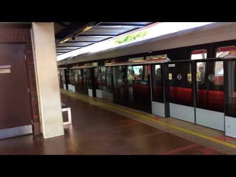 SMRT Trains NSL Kawasaki & CSR Sifang C151A 557/558 departing Choa Chu Kang (Northbound)