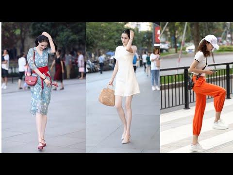Tik Tok China #16 Pretty Girls Mejores Fashion Walking Style Street Dress Outfit.  抖音時尚網紅街拍合輯。