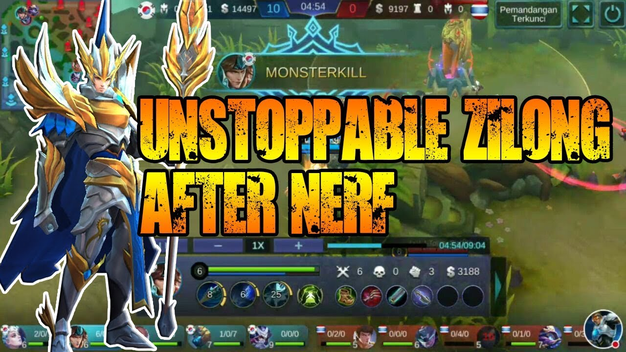 BEST GEAR ITEM BUILD ZILONG GAME PLAY AFTER NERF MOBILE