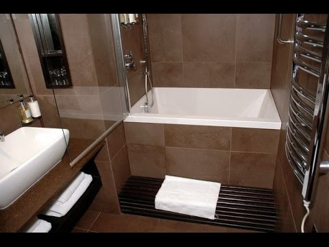 Small Soaking Tub Shower Combo - YouTube