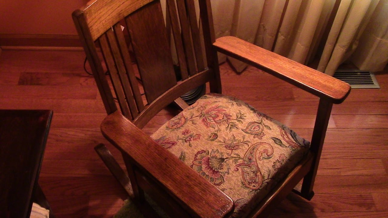 98 Restoring Craftsman Style Antique Oak Rocking Chair