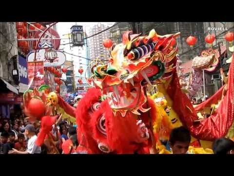 Dragon and Lion Dance Chinese New Year Chinatown Manila Philippines 2014
