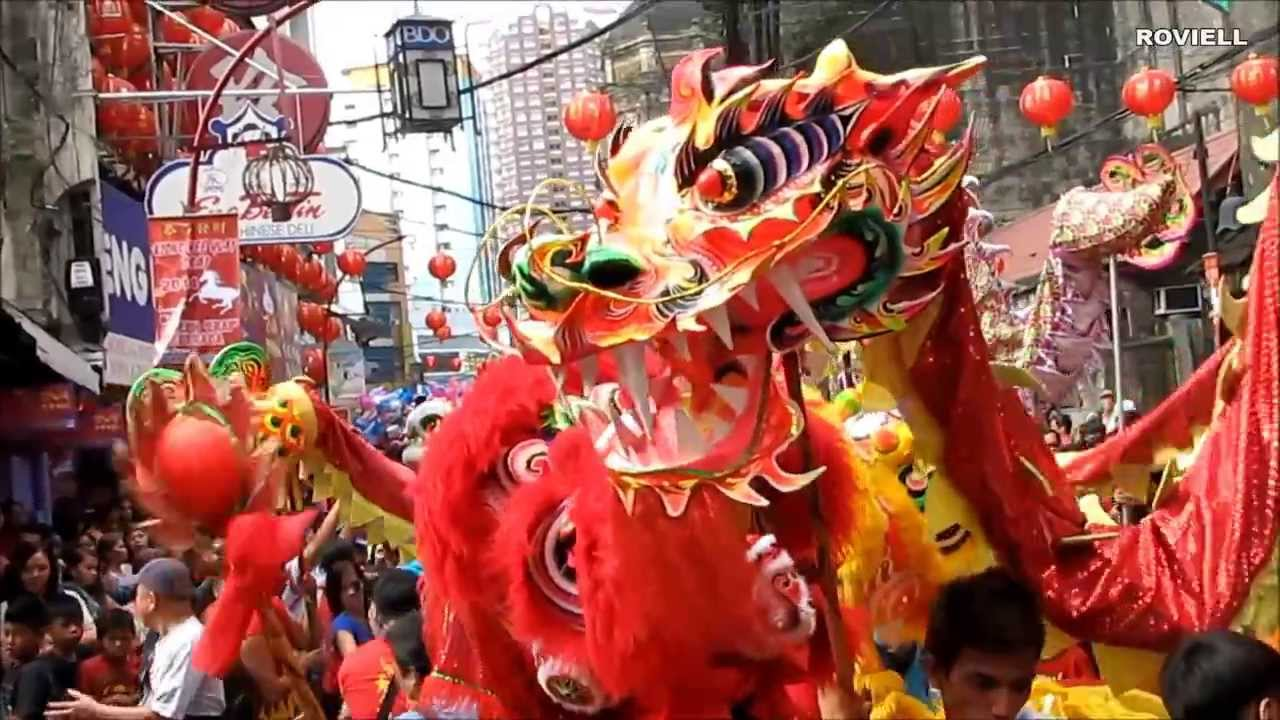 Uncategorized Chinese New Year Dance dragon and lion dance chinese new year chinatown manila philippines 2014 youtube