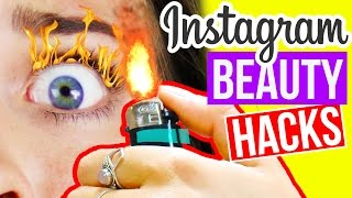 CRAZY INSTAGRAM BEAUTY HACKS 😵 Skurrile TRENDS!! LIVE TEST!