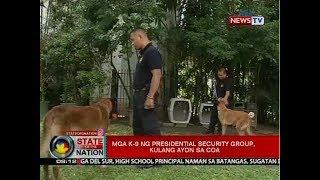 SONA: Mga K-9 ng presidential security group, kulang ayon sa COA