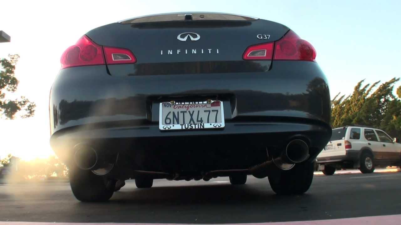 Infiniti G37 Sedan with ARK Dual GRIP Exhaust System & R2C Intakes