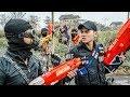 LTT Game Nerf War : Winter Warriors SEAL X Nerf Guns Fight Attack Criminal Group Rocket Bad Guy