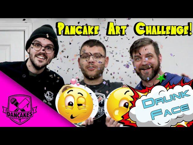 DRUNK FACE Pancake Art Challenge 🍻🥞💥
