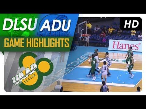 AdU vs DLSU Game Highlights | UAAP 80 Men's Basketball | October 21, 2017