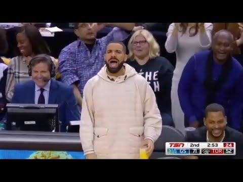 Drake troll Kevin Durant after missed dunk   warriors vs raptors   Jan 13 2018