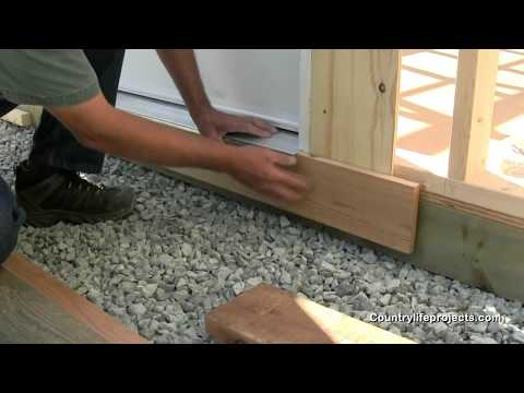 How To Build A Shed How To Install Skirting Trim For A
