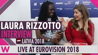 Laura Rizzotto (Latvia) Interview  @ Eurovision 2018 | wiwibloggs