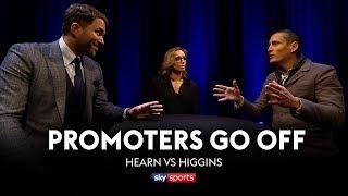 PROMOTERS GO OFF: Eddie Hearn vs David Higgins   Anthony Joshua vs Joseph Parker