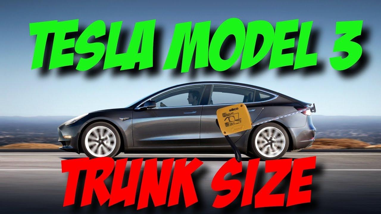 Tesla Model 3 Trunk Size - YouTube