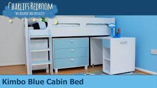 Kimbo Blue Cabin Bed - Charlies Bedroom