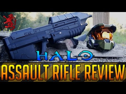 HALO ASSAULT RIFLE MA5B AIRSOFT GUN REVIEW - LAND WARRIOR AIRSOFT - SPARTAN117GW