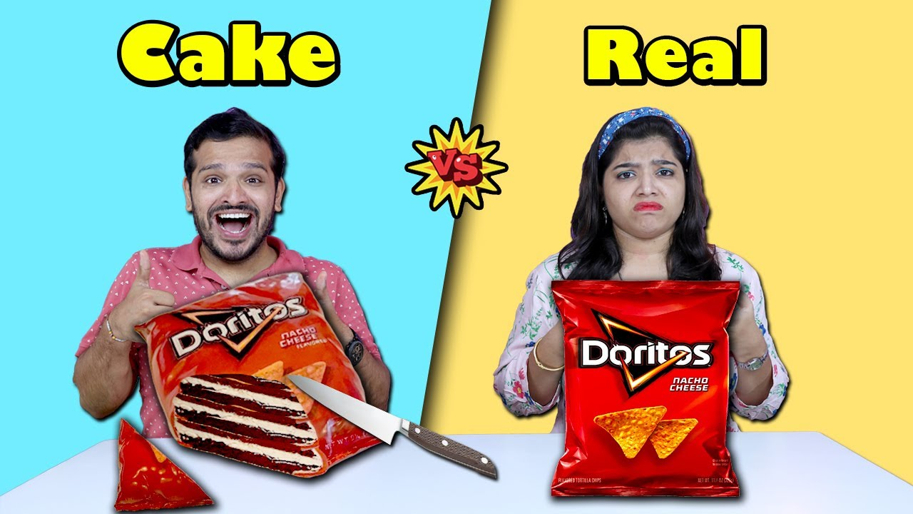 Real Vs Cake Food Eating Challenge | Realistic Cakes Eating Challenge | Hungry Birds