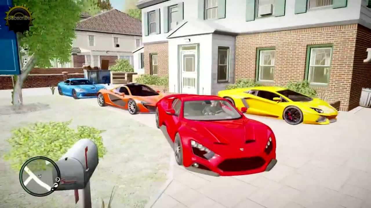 GTA 4 MEGA SUPER ULTRA RICH HOUSE BEST CARS YouTube