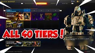 ALL 40 TIERS IN BLACK MARKET OPERATION APOCALYPSE Z SHOWCASE! BO4 UPDATE 1.20 BLACK MARKET NEW DLC