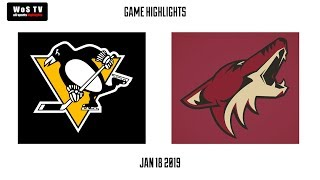 NHL Highlights   Pittsburgh Penguins vs  Arizona Coyotes   Jan  18, 2019