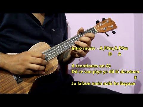 Naino Ne Baandhi Ukulele Lesson - Intro & Chords | Arko, Yasser, Akshay Kumar | GOLD