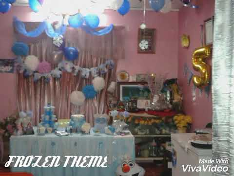 Frozen Theme Simple Birthday Decoration At Home Youtube