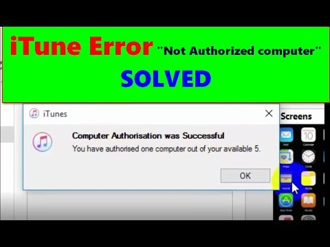 "Solved iTune Error "" Not Authorized from this Computer"""