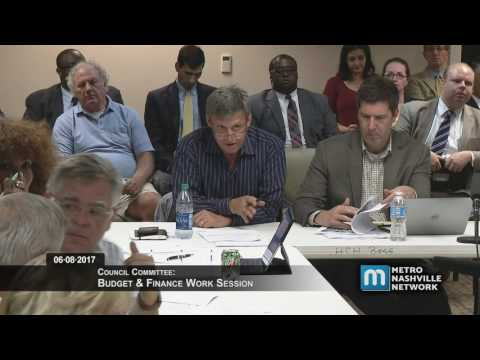 06/08/2017 Council Budget & Finance Committee Work Session