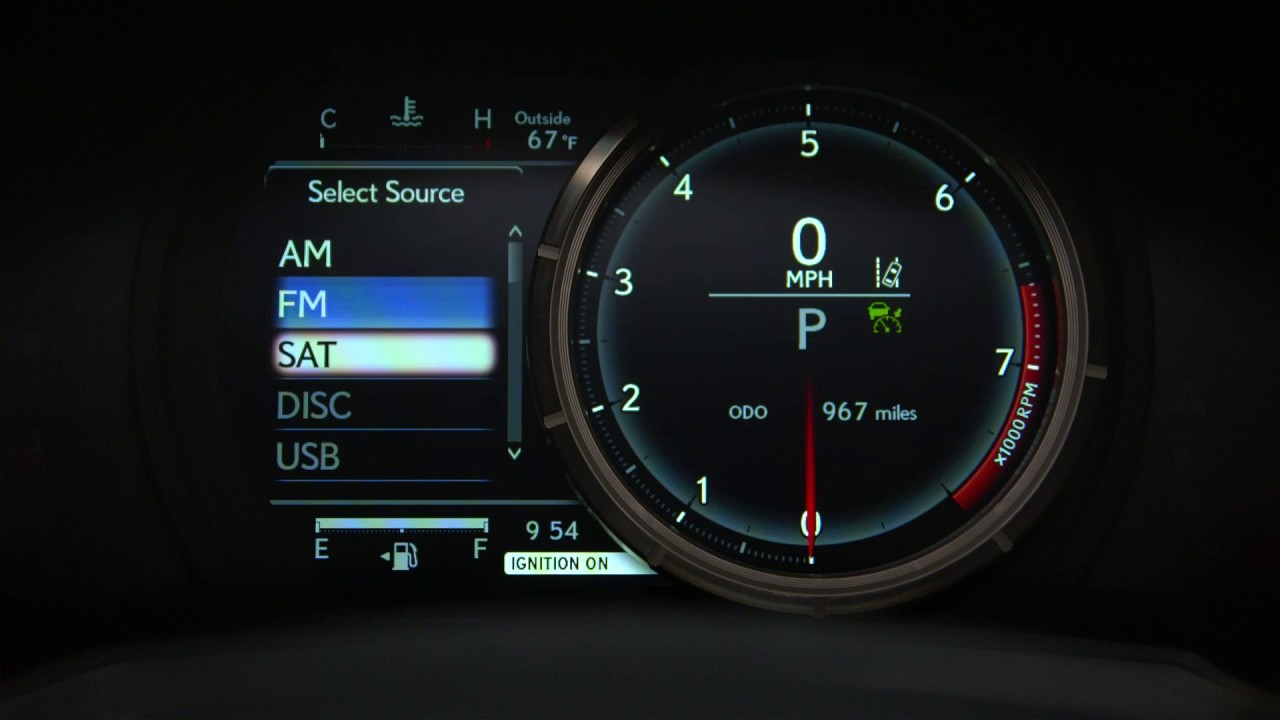 Multi Information Display And Digital Clock Setting Lexus Drivers