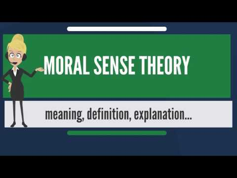 What is MORAL SENSE THEORY? What does MORAL SENSE THEORY mean? MORAL SENSE THEORY meaning