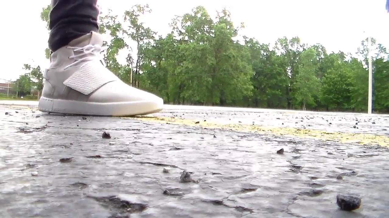 9779073df61f On Feet  Adidas Tubular Invader Strap Tan White on Foot - YouTube