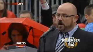 4-15-2014 - Ronan Tynan sings God Bless America at Boston Marathon Finish Line