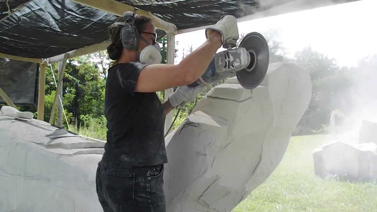 Carving Stone With An Angle Grinder Youtube