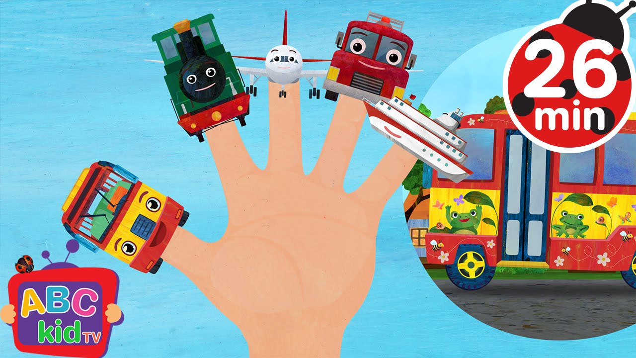 Finger Family Vehicles (2D) | +More Nursery Rhymes & Kids Songs - CoCoMelon