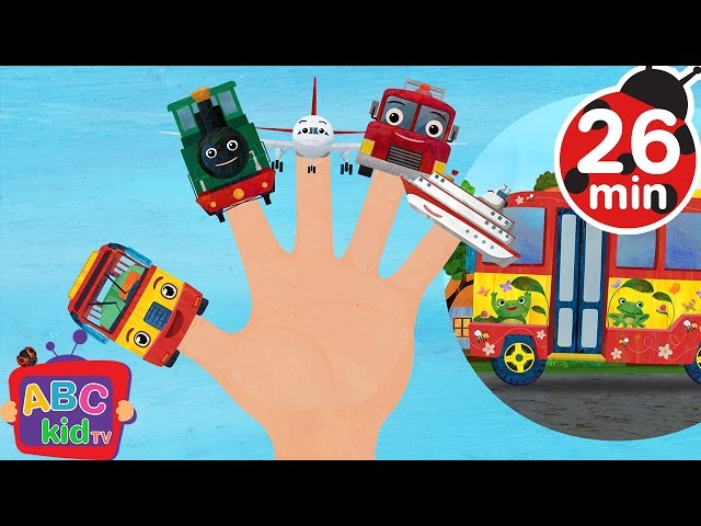 Finger Family Vehicles (2D) | +More Nursery Rhymes & Kids Songs - Cocomelon (ABCkidTV)