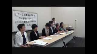 20140422 UPLAN 【記者会見】自由権規約委員会の日本審査に向けて 日本の人権状況・何が問われているのか?