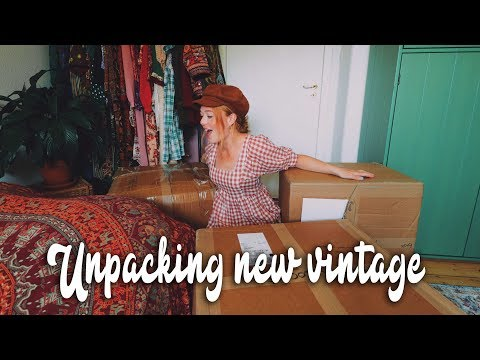 Unpacking and organizing massive new vintage delivery