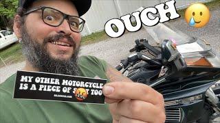When your motorcycle SUCKS
