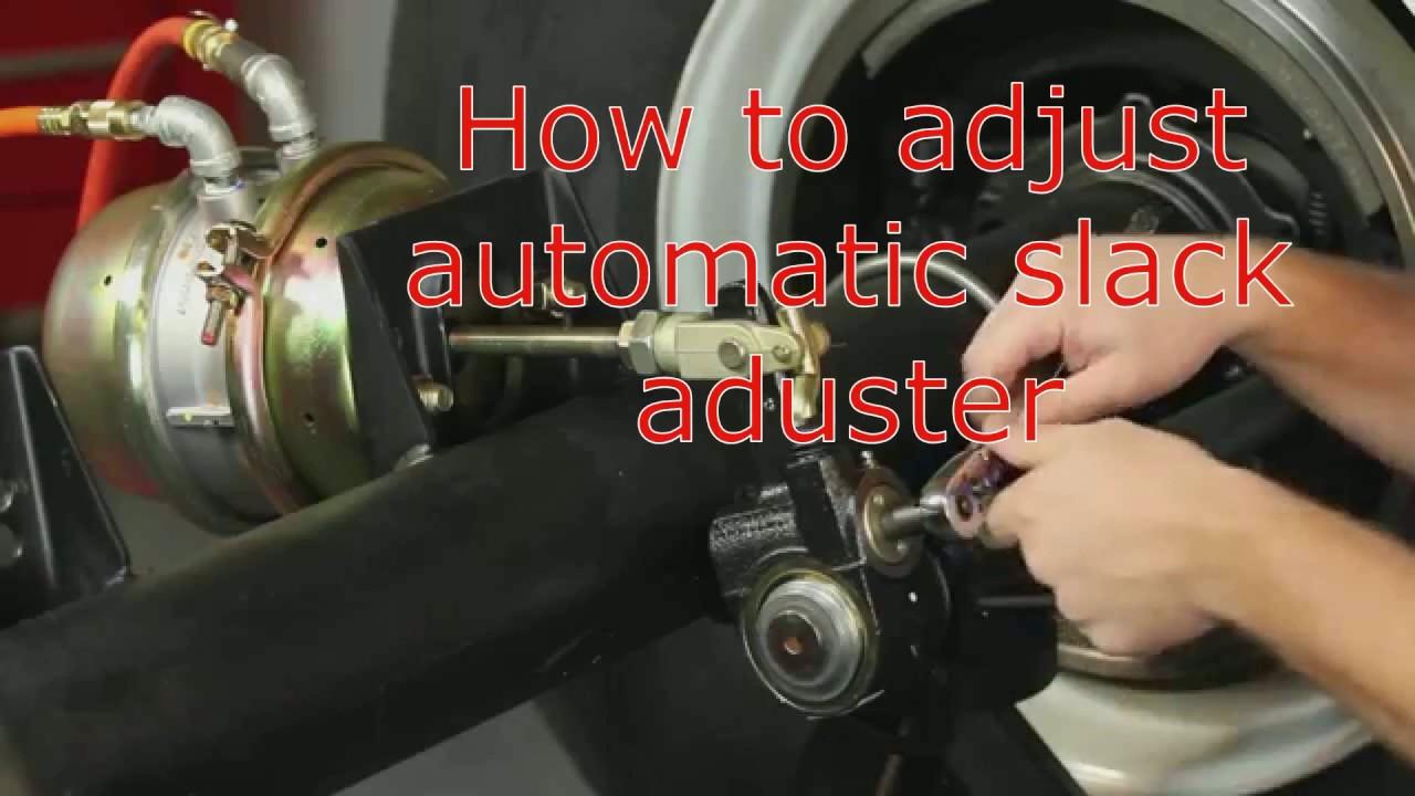 How to adjust automatic slack adjuster - YouTube