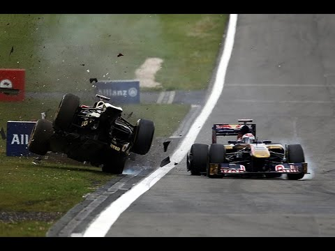 F1 2011 All Crashes Compilation