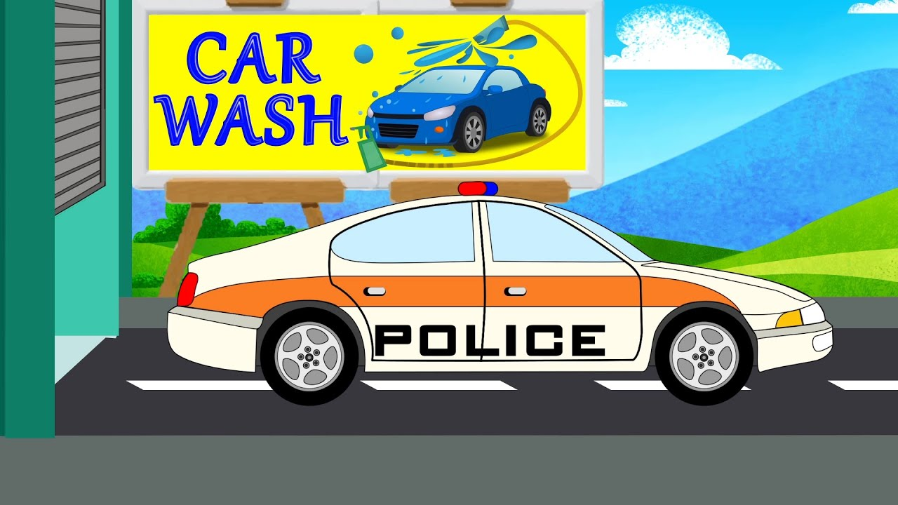 police car wash car wash youtube