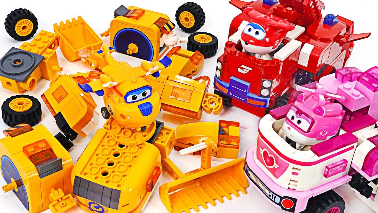 ¡Ensamblemos el robot transformador Super Wings Donnie desmontado en bloques! | Juguete DuDuPop