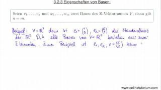 Eigenschaften von Basen - Mathematik Video Vorlesung